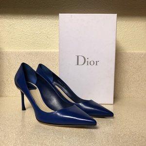 Christian Dior Essence Leather Pump Blue Sz 39 / 9